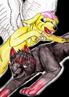 .:AT:. Dracma and May by FlamewolfTheWhite