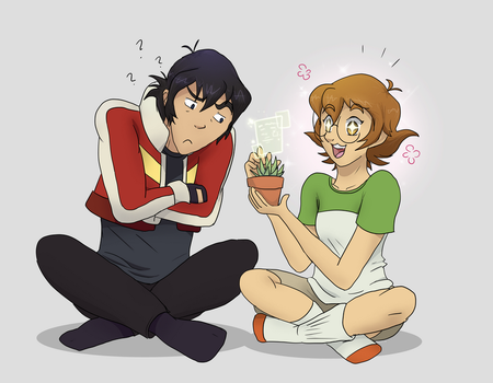 Excited Pidgeon + Plant (and Confused Keef) by Maya-onee-chan