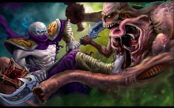 HON Heroes of Newerth Fight by Daviddleonluis