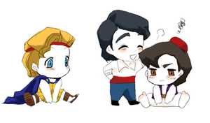 Chibi Al, Eric, and Herc by wool100ee