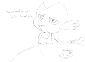 The amount of shit which Spike has to deal with. by RevolutionGG