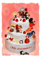FF7: Anniversary cake. by Landale