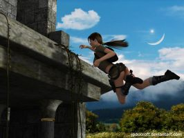 Lara Croft jumping by JpauCroft