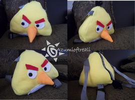 Yellow Angry Bird Backpack Commission by azumioftreali