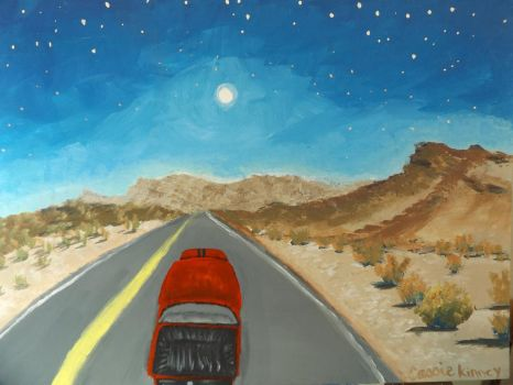 The open road, by Cassie Kinney, 2015 by sillybunnns