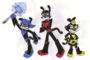 The Warners as Loonatics by KessieLou