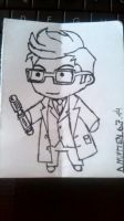 David Tennant Chibi by RingaStingoFrodo