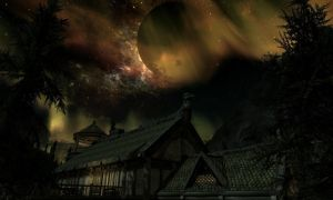 Night sky at Lakeview Manor by 62guy
