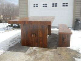 Rustic modern style table 2 by MrMillstone