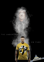 CM Punk vs The Undertaker by sentryJ