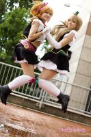 No brand girls - Honoka and Kotori by Fuwamii