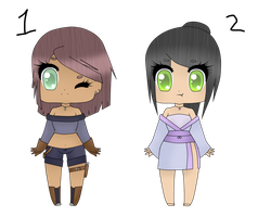 Chibi girls ~ SOLD ~ by xXxSHIPPOxXx