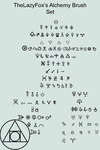 Alchemy Symbol Brush Set by TheLazyFox