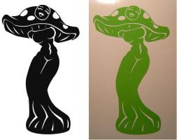 Shroomgirl Decal by madpuffins