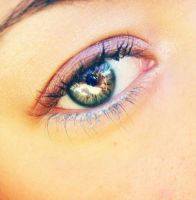 pink blue brighting eye by erykucciola-sToCk
