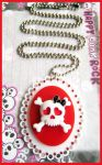Skull Acrylic Necklace by cherryboop
