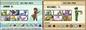 Michael and Jonah's Trainer Cards by Kateboat
