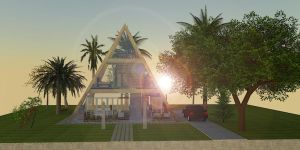 PYRAMID HOUSE (front) by Ar32109