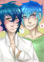 very gay collab with hot-senpai by PrinceLameo
