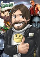 Gronkh - Birthday Picture by blue-hugo