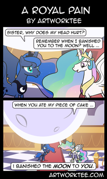 Comic: A Royal Pain by artwork-tee