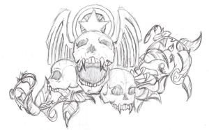 Skulls and Vines by Drink-of-Lonelyness