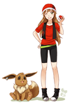 Amber and eevee by meago