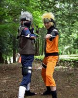 NRT: Kakashi and Naruto by MIUX-R