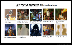 My Top Ten Animations of 2014 by EsmeAmelia