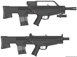 Weapons: CQS-64 by purpledragon104