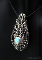 Opal mini borg pendant by IMNIUM
