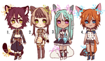Mixed Venia adoptable auction (CLOSED) by Kaiet