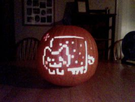Nyan Cat Pumpkin by Granaday