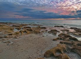 Sunset  Flipper beach by peterpateman