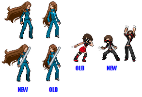 Old And New Sprites ubnfkjbgd by EquinoxialSolstice