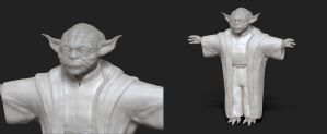 Yoda of might and magic WIP2 by Rimka