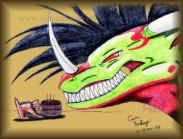 Giftart- MY CAKE e___e by SargeantSweety