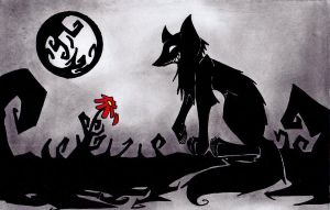 The world is black. by Shimyo