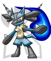 Lucario by turb0s0ic333