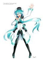 Hatsune Miku - Vocadrive by Exiled-Artist