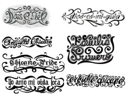 Lettering tattoo designs by thehoundofulster
