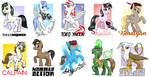 Some pony badges by Pedantia