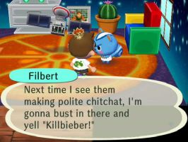 Filbert isn't a fan of Justin Bieber by TheStaticStalker