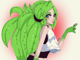 Plant girl by poliip