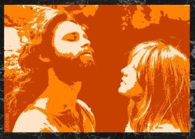 Jim Morrison + Pamela Courson by Hodgy-Uk