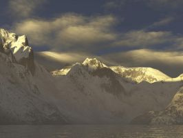 Winter - cgi mountains by ArtistStock