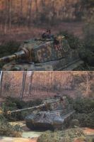 Kurt Knispel in Tiger II by Baryonyx62