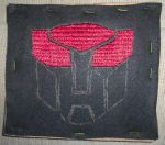 Autobot Symbol for haversack in progress by Merewyn1066