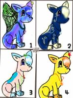 A bunch of Gem Wolves!!! FREE ADOPTABLES CLOSED by WolfyDragonlover