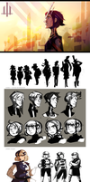 365: Visual Development (roughs) by rienlen